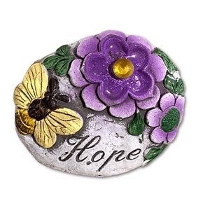 Other - Hope Rock Butterfly Flowers Stone Spiritual